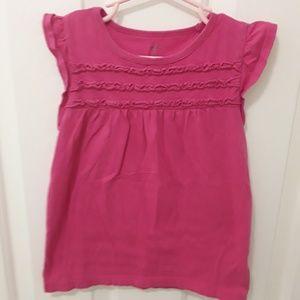 🌹BUNDLE 3 SAVE 30% Pink Ruffle Tshirt . 6T